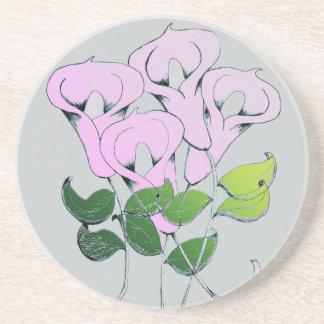 ユリの花の芸術の砂岩コースター コースター