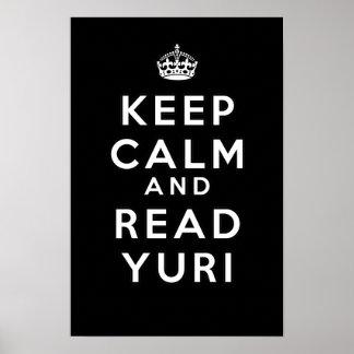 ユリ穏やか、読書保って下さい ポスター