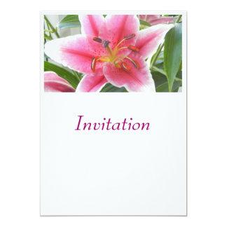 ユリ美しい惑星によるピンクの招待状 カード