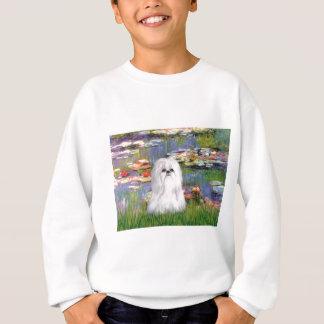 ユリ2 -シーズー(犬) Tzu (白い) スウェットシャツ