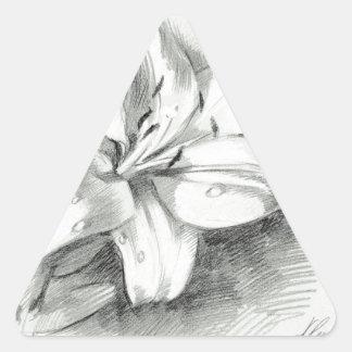 ユリ2 三角形シール