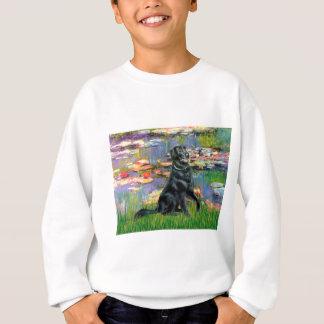 ユリ2 -平らな上塗を施してあるレトリーバー スウェットシャツ