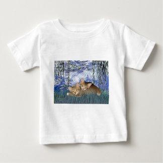 ユリ6 - 2匹の虎猫の子ネコ ベビーTシャツ