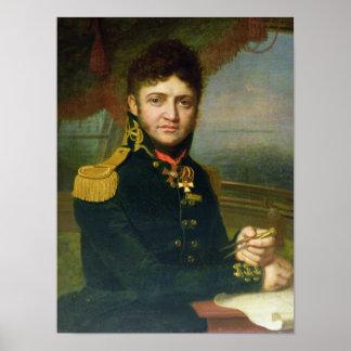 ユリF. Lisyansky 1810年のポートレート ポスター
