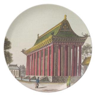 ユンMing元のillustratの「ヨーロッパ宮殿」 プレート