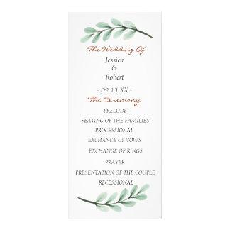 ユーカリの枝結婚式プログラム ラックカード
