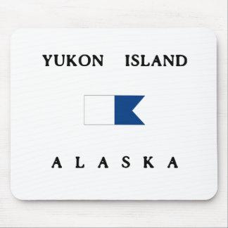 ユーコン準州の島のアラスカのアルファ飛び込みの旗 マウスパッド