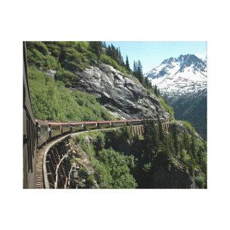 ユーコン準州アラスカの鉄道 キャンバスプリント