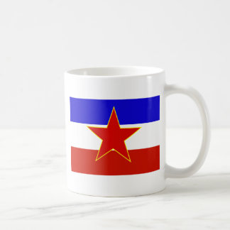 ユーゴスラビアの旗 コーヒーマグカップ