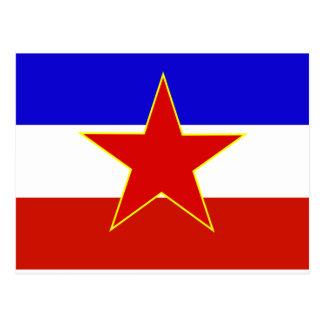 ユーゴスラビアの旗 ポストカード