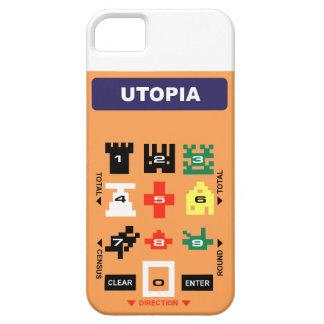 ユートピア: レトロのビデオゲームのコントローラーの上敷カバー iPhone SE/5/5s ケース