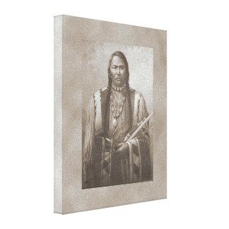 ユート族のインディアンの酋長 キャンバスプリント