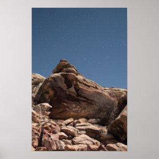 ユート族の岩石彫刻 ポスター
