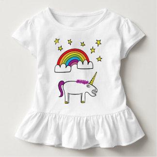 ユーニスユニコーン-幼児のひだのティー トドラーTシャツ