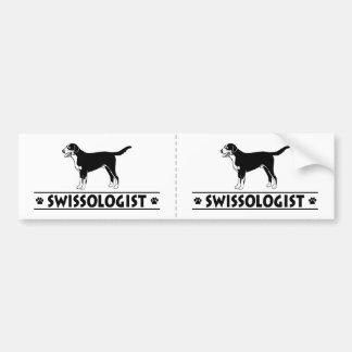 ユーモアのあるでより素晴らしいスイス山犬 バンパーステッカー
