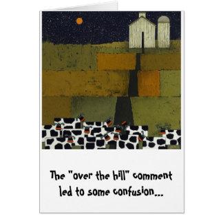 ユーモアのあるなおもしろいな牛誕生日 カード
