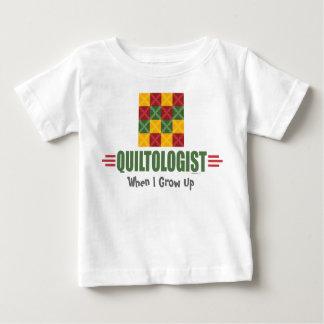 ユーモアのあるなキルティング ベビーTシャツ