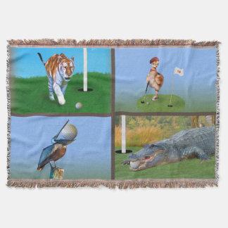 ユーモアのあるなゴルフイメージ スローブランケット