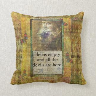 ユーモアのあるなシェークスピアの引用文の芸術の装飾的な枕 クッション