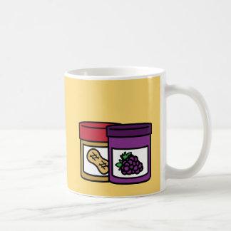 ユーモアのあるなピーナッツバターおよびゼリー コーヒーマグカップ