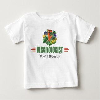 ユーモアのあるなベジタリアン ベビーTシャツ