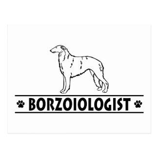 ユーモアのあるなボルゾイ犬 ポストカード