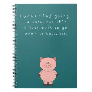 ユーモアのあるな仕事のノート ノートブック