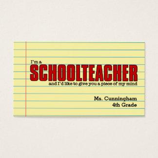 ユーモアのあるな学校の先生のための名刺 名刺