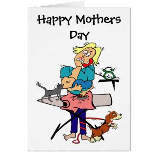 ユーモアのあるな母の日 カード