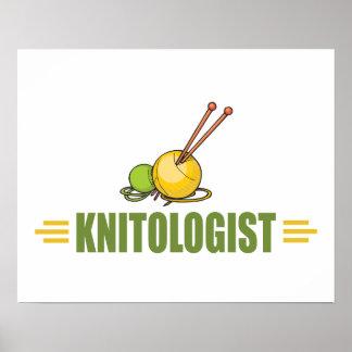 ユーモアのあるな編み物 ポスター
