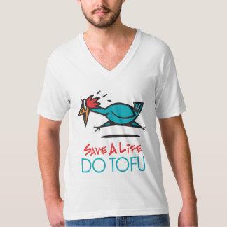 ユーモアのあるな豆腐のデザイン Tシャツ