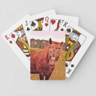 ユーモアのあるな馬のテーマのトランプ トランプ