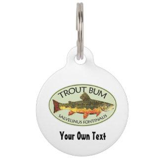 ユーモアのあるな魚釣り ペット ネームタグ