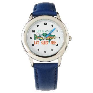 ユーモアのあるな魚釣り 腕時計