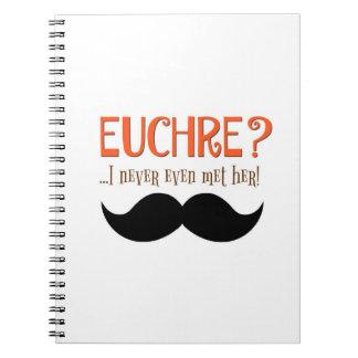 ユーモアのあるなEuchreのスコアの本のノート ノートブック