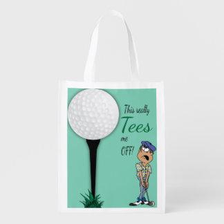 ユーモアはゴルファーを離れて私をティーにのせます エコバッグ