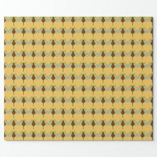 ユール(キリスト降誕祭)の蜂の包装紙 ラッピングペーパー