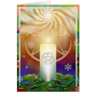 ユール(キリスト降誕祭)日曜日の暖かさを祝って下さい カード