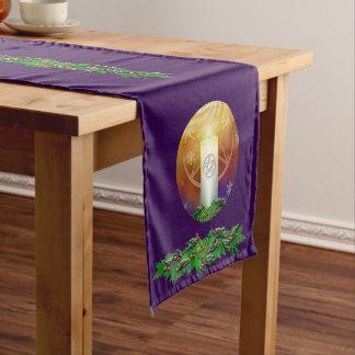 ユール(キリスト降誕祭)日曜日の暖かさを祝って下さい ショートテーブルランナー