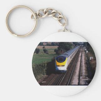 ユーロスターの旅客列車 キーホルダー