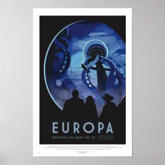 ユーロパ旅行-レトロの宇宙旅行の芸術ポスター ポスター