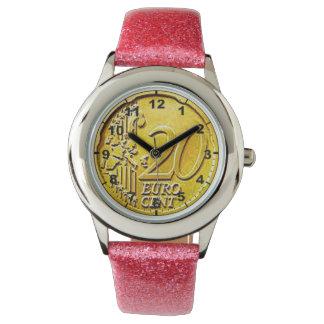 """""""ユーロ20セント""""はデザインの腕時計を鋳造します 腕時計"""