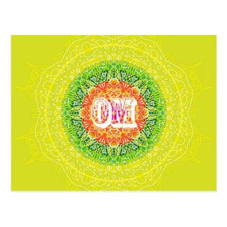 ヨガのためのOmの曼荼羅のデザイン ポストカード