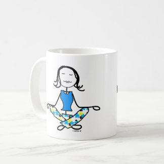 ヨガのカルマの黙想のマグは個人化なります コーヒーマグカップ