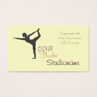 ヨガのスタジオか先生の名刺 名刺
