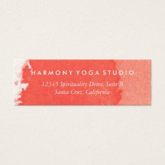 ヨガのスタジオの名刺の珊瑚のブラシの打撃 スキニー名刺