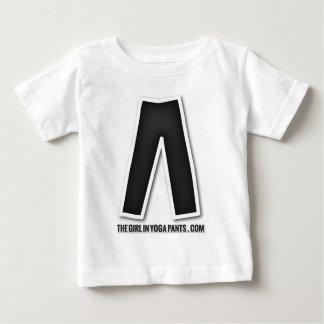 ヨガのズボンの黒いヨガのズボンのデザインの女の子 ベビーTシャツ