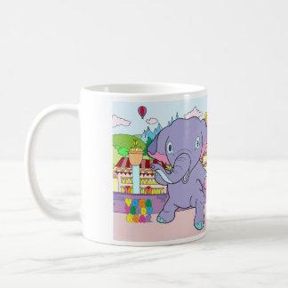 ヨガのテディー・ベア及び戦士象のマグ コーヒーマグカップ