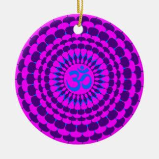 ヨガのピンクの紫色の曼荼羅 セラミックオーナメント