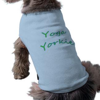 ヨガのヨークシャーテリア犬のワイシャツ ペット服